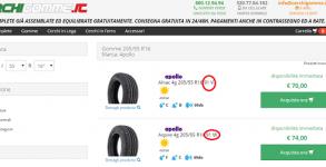 acquistare pneumatici on line