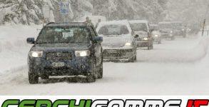 guida in caso di ghiaccio o neve
