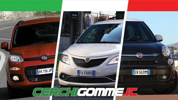 Auto più vendute in Italia nel 2016, divise per categoria